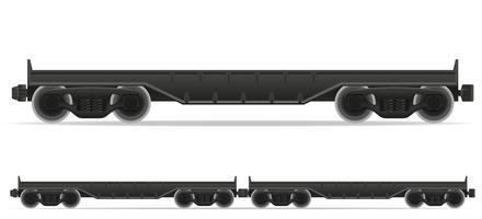 Eisenbahnwagen Zug Vektor-Illustration