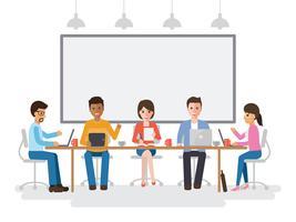 Treffen von Geschäftsleuten und Geschäftsfrauen