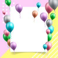 födelsedagsfest bakgrund vektor illustration