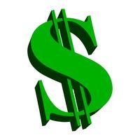 Dollar tecken grön vektor