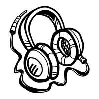 Hörlurar Musik Tillbehör vektorikonen