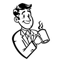 Affärsman i kostym huvud vektor ikon