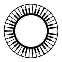 Piano tangentbord musikinstrument vektorikonen vektor