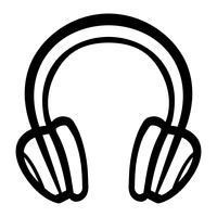 Kopfhörer Musik Zubehör Vektor Icon