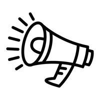 Megaphon Lautsprecher Bullhorn Ankündigung Alarm