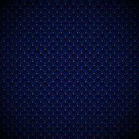 Abstraktes blaues geometrisches Quadratmusterluxusdesign mit goldenen Punkten auf dunklem Hintergrund.