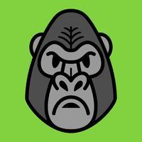 Gorilla-Affen-Affe-Gesicht