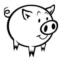 Schwein-Cartoon-Vektor-Illustration vektor