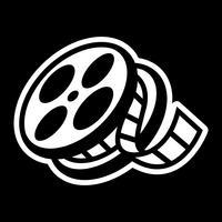 Filmteater Cinem Film Reel Unspooling vektor