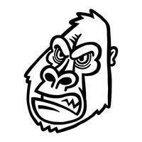 gorilla apa apa ansikte
