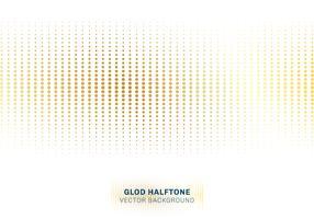 Abstrakt guld prickar mönster halvton på vit bakgrund lyxig stil. vektor