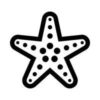 Sjöstjärna havslevande vektorikonen