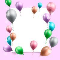 Geburtstagsfeier Hintergrund Vektor-Illustration vektor