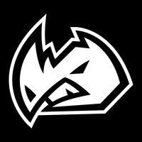 Rhino Horns Animal Cartoon-Vektor-Symbol
