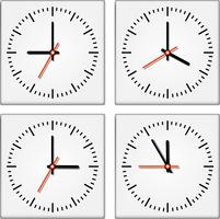 Uhrwerke und Uhren vektor
