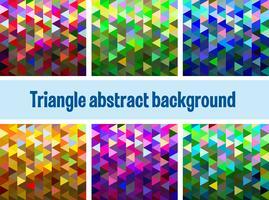 Mehrfarbiges Dreiecksnetz
