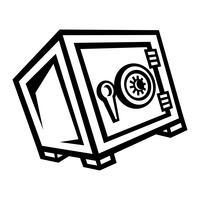 Metal Security Safe Lock-Vektor-Symbol