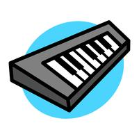 Piano tangentbord musikinstrument vektorikonen