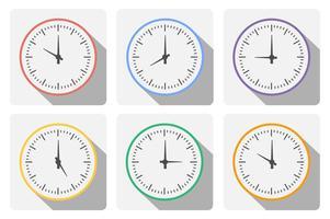 Stellen Sie die Uhr mit dem Timer ein vektor
