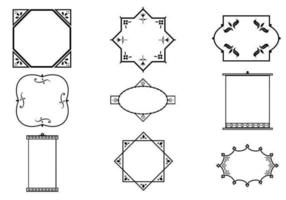 Delikat dekorativ ram vektorpaket