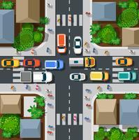Draufsicht von städtischem