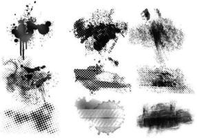 Grungy Halbton-Vektorelemente packen vektor