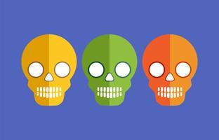 Schädel für Halloween vektor