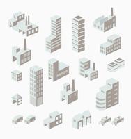 En uppsättning urbana vektor