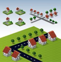 Landhäuser vektor