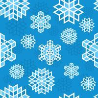 Jul snöflinga mönster