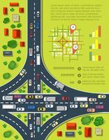 Straßeninfografiken vektor