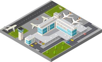Isometric city airport vektor