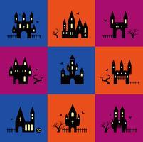 Halloween silhuetter vektor