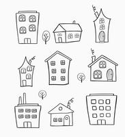 Skizzen von Häusern vektor