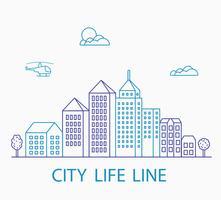 linjär urban vektor