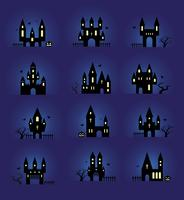 Halloween-Silhouetten festgelegt vektor