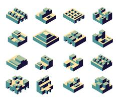 Eine Reihe von abstrakten vektor