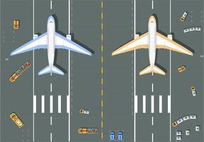 Överhead synvinkel flygplats