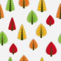 Träd sömlös vektor
