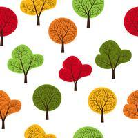 Träd sömlösa vektor