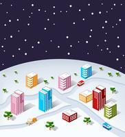 sometric city christmas vektor
