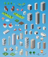Isometrische Stadt gesetzt