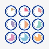 Stellen Sie die Uhr mit dem Timer ein