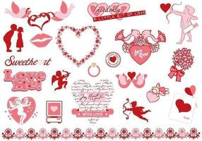 Valentinsdag Vector Elements Pack