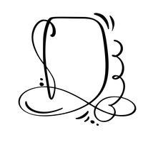 Calligraphy tecknad Quote speech bubble icon. Handdragen vintageram eller boxmall. Vektor illustration med plats för din text