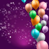 Geburtstagsfeier Hintergrund, Geburtstag Ballon Tapete