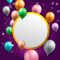 födelsedagsfest bakgrund, födelsedag ballong tapeter