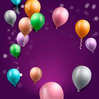 födelsedagsfest bakgrund, födelsedag ballong tapeter vektor
