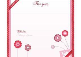 Alla hjärtans dag Kärleksbrev Vector Bakgrund