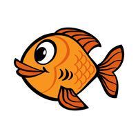 Goldfish tecknad vektor ikon